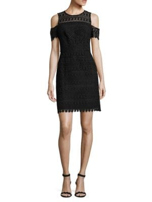 Shosanna Crochet Cold-Shoulder Dress by Shoshanna