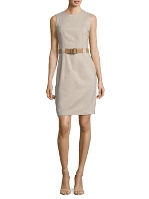 Belted Sheath Dress by Tahari Arthur S. Levine
