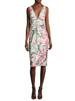 Sleeveless Floral Cocktail Dress by Kay Unger