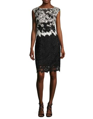 Lace Cap Sleeves Cocktail Dress by Kay Unger