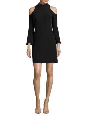 Solid Cold-Shoulder Dress by Nicole Miller New York