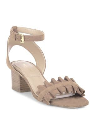 Monroe Suede Ankle-Strap Sandals by Michael Kors Collection