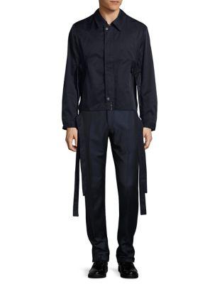 Belted Zip-Front Jacket...