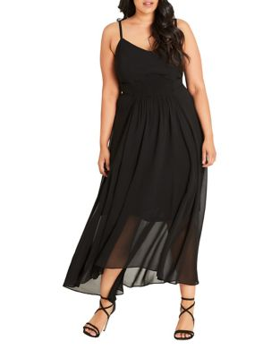 Plus Shirred Maxi Dress by City Chic