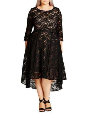 Plus Lace Lover Dress by City Chic