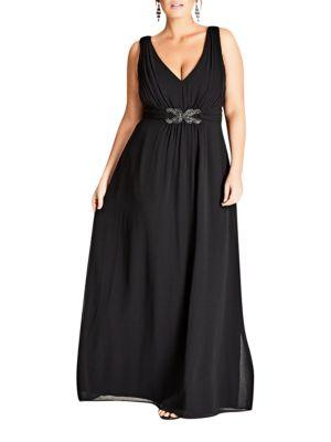 Plus Front Wrap Dress by City Chic