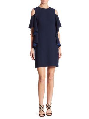Lambada Ruffled Cold-Shoulder Dress by Trina Turk