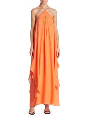 Ginger Silk Georgette Maxi Dress by Trina Turk