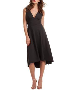 Josefina Solid V-Neck Dress by Trina Turk