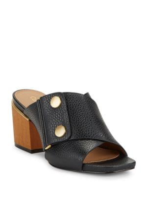 Joelle Leather Sandals by Calvin Klein
