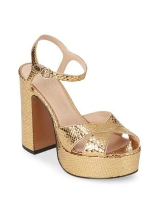 Leather Platform Sandals by Marc Jacobs