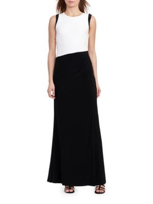 Sleeveless Colorblock Gown by Jill Jill Stuart