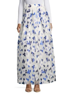 Printed Flared Skirt by Belle Badgley Mischka