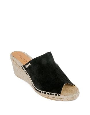 Shen Suede Espadrille Mules by Patricia Green