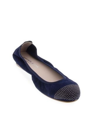 Star Suede Ballet Flats by Patricia Green
