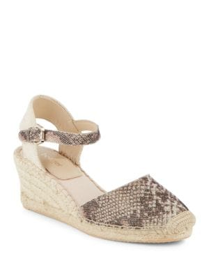 Elia Leather Espadrille Wedge Sandals by Botkier New York