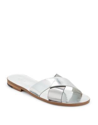 Ally Metallic Criss Cross Slide Sandals by Botkier New York