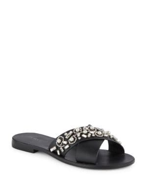 Elina Leather Slides by Botkier New York