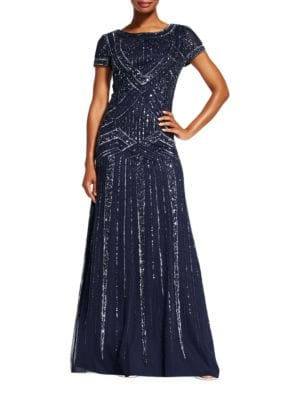 Sequin Embellished Gown by Adrianna Papell