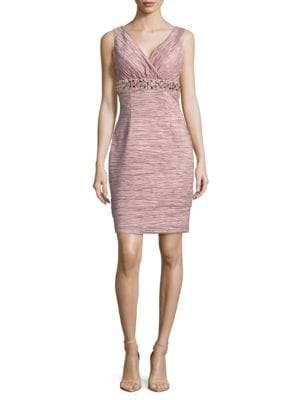 Textured Embellished Dress by Eliza J