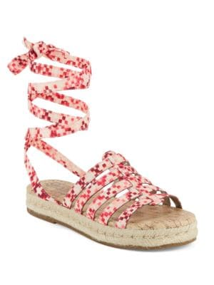 Ariel Printed Lace-Up Espadrille Sandals by Circus by Sam Edelman