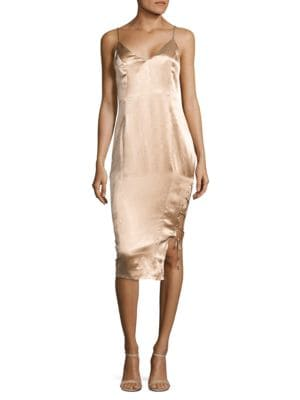 Tarin Metallic Slip Dress by Misha Collection