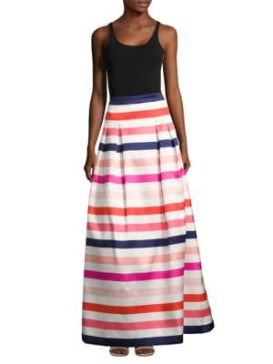 Striped Pleated Skirt by Eliza J