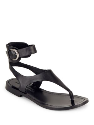 Adria Leather Ankle-Buckle Sandals by Sigerson Morrison