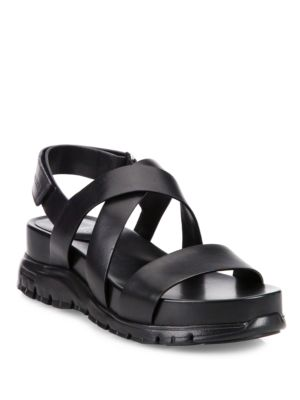 Grand Leather Crisscross Sandals by Cole Haan