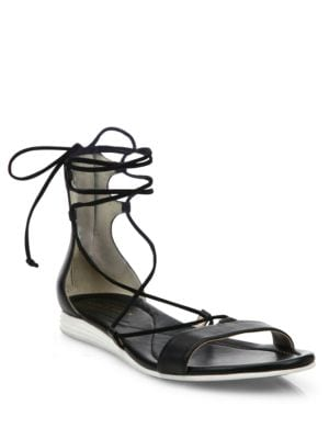 Grand Leather Lace-Up Sandals 500086963555