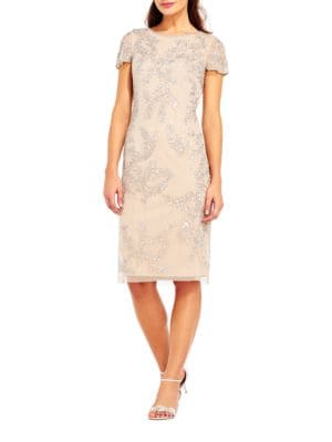 Embellished Sheath Dress by Xscape