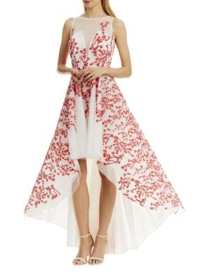 Embroidered Hi-Lo Dress by Nicole Miller New York