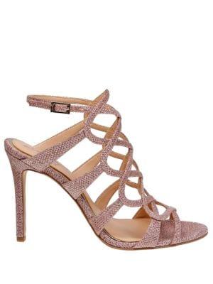 Zariah Leather Sandals by Belle Badgley Mischka