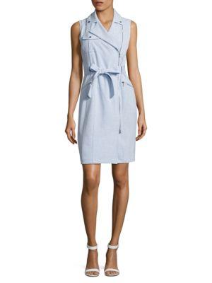Regatta Asymmetrical Zip-Front Dress by Calvin Klein