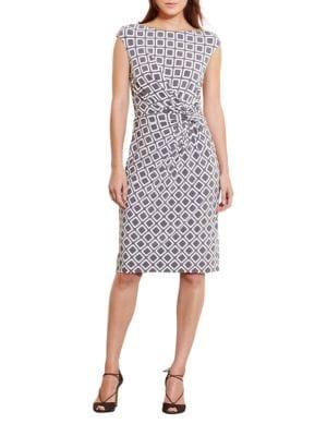 Geometric-Print Jersey Dress by Lauren Ralph Lauren