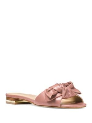 Willa Leather Slide Sandals by MICHAEL MICHAEL KORS