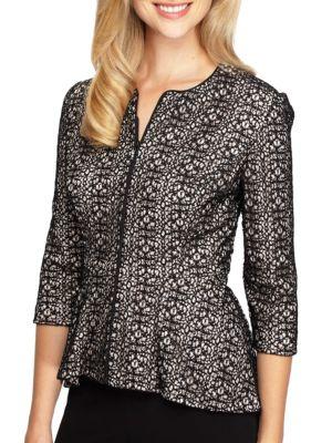 Patterned Lace Dress Jacket by Alex Evenings