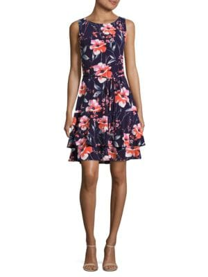 Tiered Floral Dress by Ivanka Trump