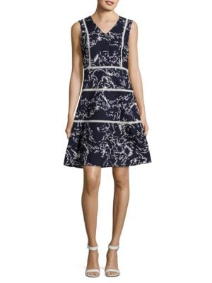 A-Line Print Dress by Ivanka Trump