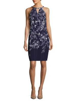 Floral Keyhole Halter Dress by Ivanka Trump