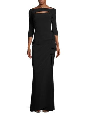 Cutout Three-Quarter Sleeved Gown by La Petite Robe di Chiara Boni