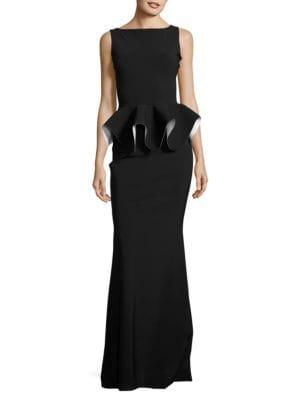 Ruffled Peplum Gown by La Petite Robe di Chiara Boni