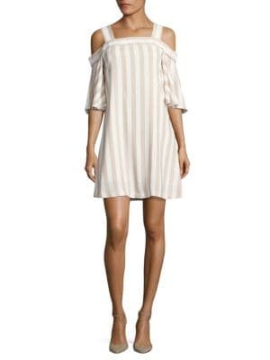 Striped Cold Shoulder Dress by Taylor