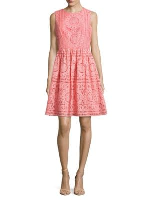 Lace and Embroidered Overlay Dress by Tommy Hilfiger
