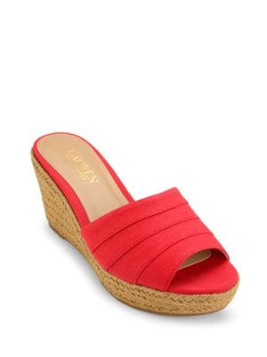 Karlia Wedges Slides by Lauren Ralph Lauren