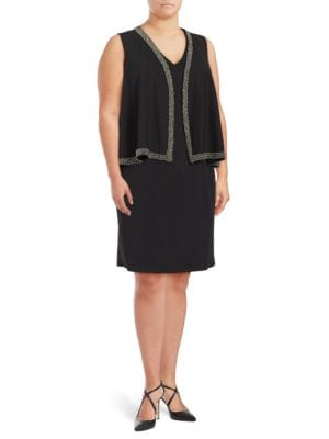 Plus Vest Topped Sheath Dress by Adrianna Papell