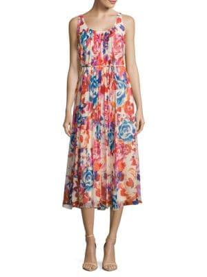 Sleeveless Floral Maxi Dress by Donna Morgan