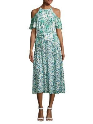 Floral-Print Cold-Shoulder Dress by RACHEL Rachel Roy