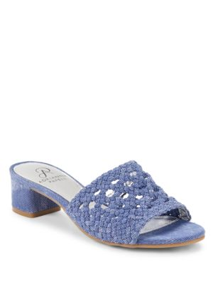 Talulah Leather Slide Sandals by Adrianna Papell