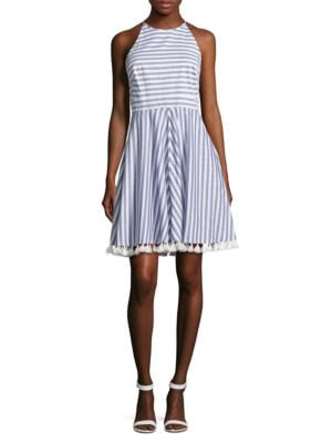 Striped Pom-Pom Dress by Eliza J